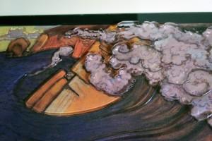 Tableau tactile en relief sur le thème de la vague