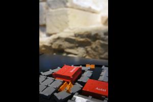 Maquette tactile d'une crypte