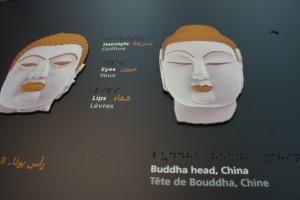 Bouddha Indu et chinois, détails -Louvre Abu Dhabi 2017