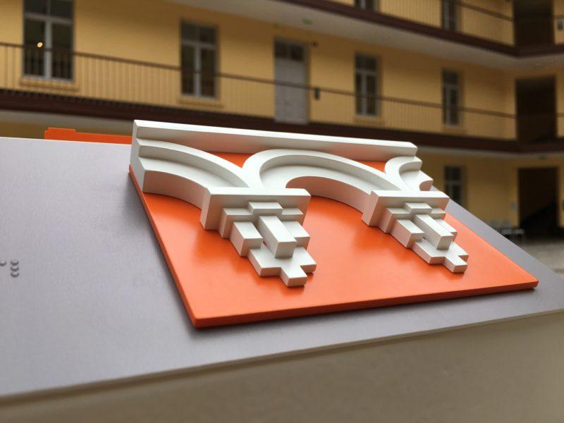 Familistère de Guise 2017 décoration de la façade du Pavillon Central