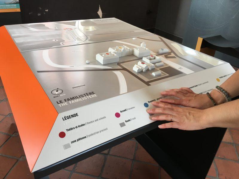 Familistère de Guise 2017 Plan tactile Accueil