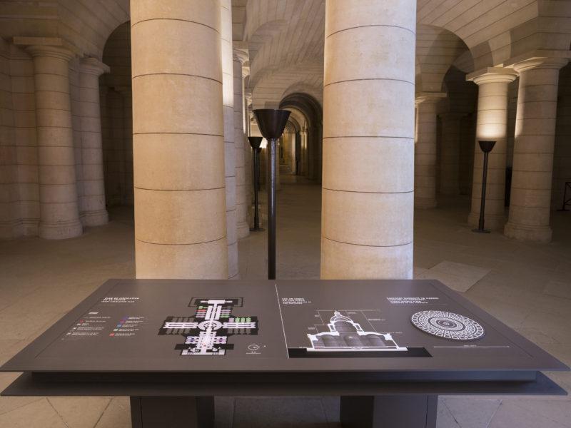Panthéon 2017 Plan tactile de la crypte, écorché du monument et détail