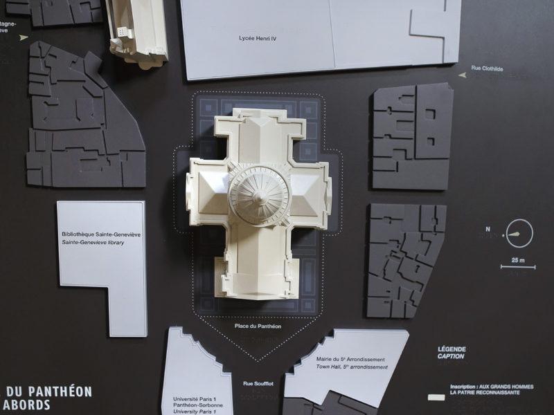 Maquette du Panthéon et ses environnements 2017