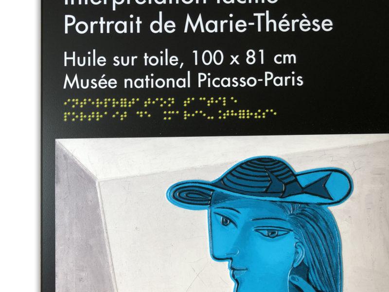 Portrait tactile de Marie-Thérèse, Pablo Picasso